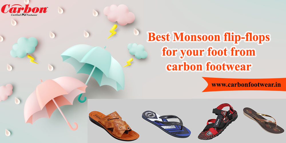 Best Monsoon flip-flops for your foot from carbon footwear